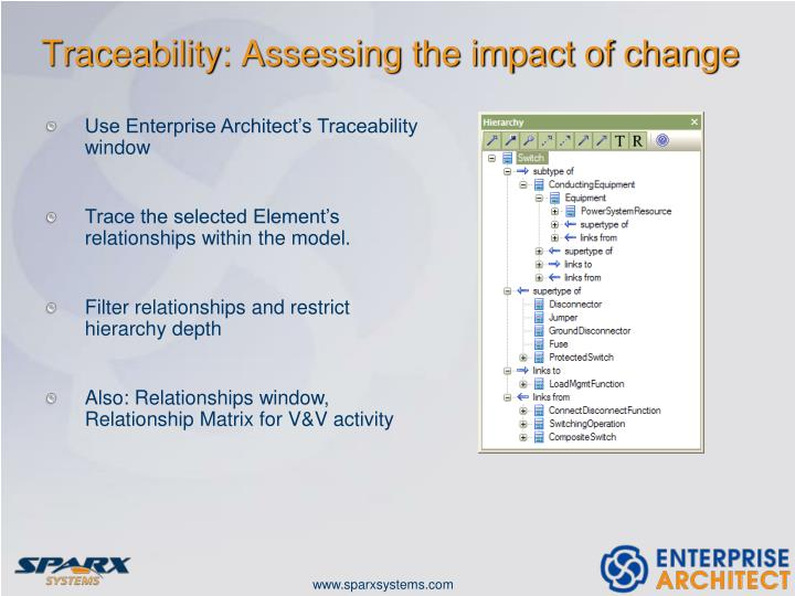 Traceability: Assessing the impact of change