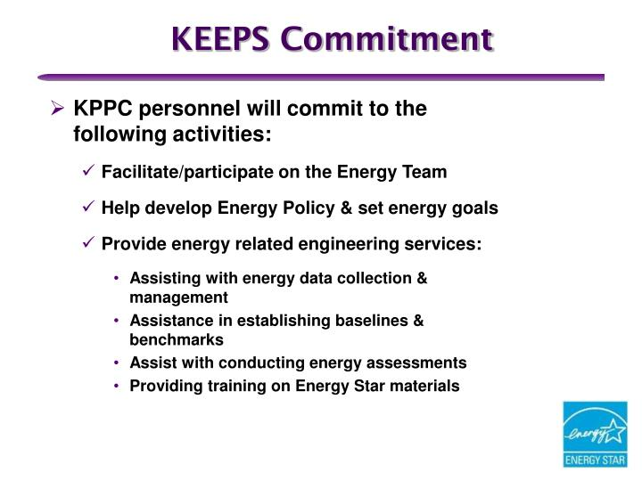 KEEPS Commitment