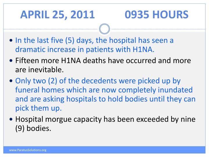 April 25, 20110935 Hours