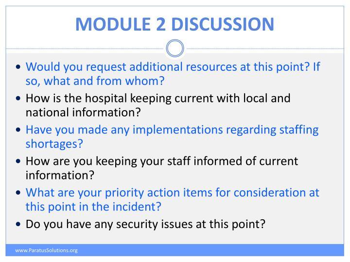 Module 2 discussion