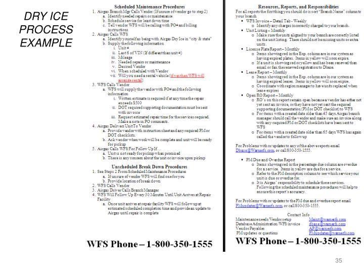 DRY ICE PROCESS EXAMPLE