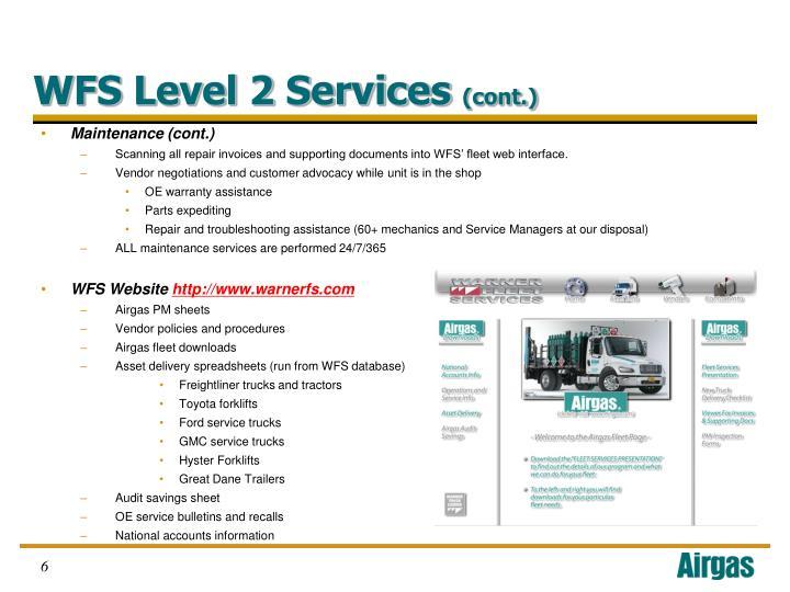 WFS Level 2 Services