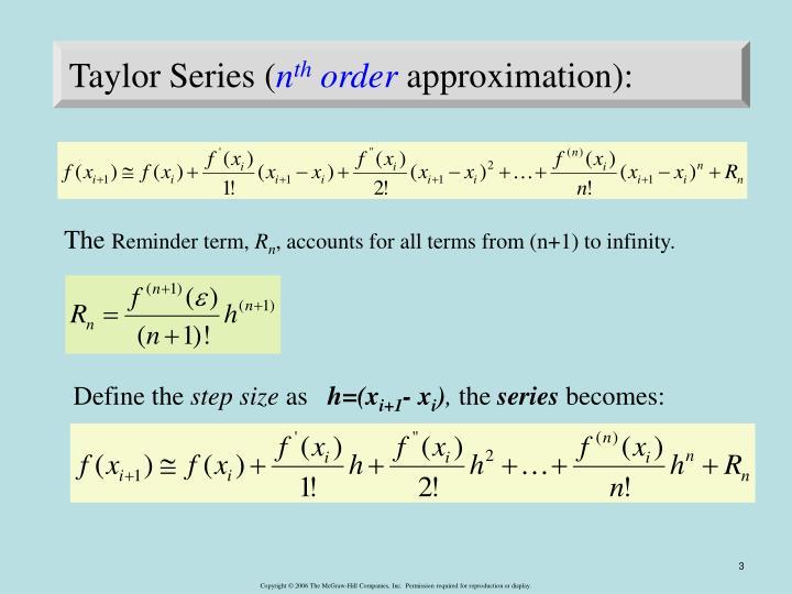 Taylor Series (