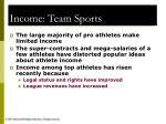 income team sports