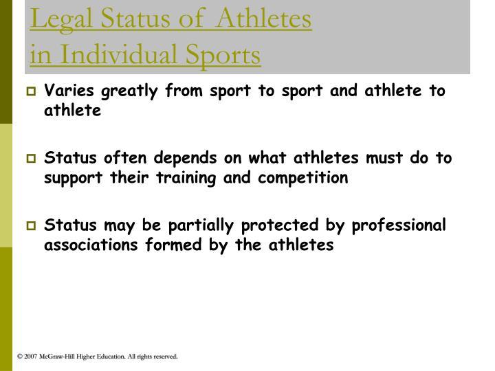 Legal Status of Athletes