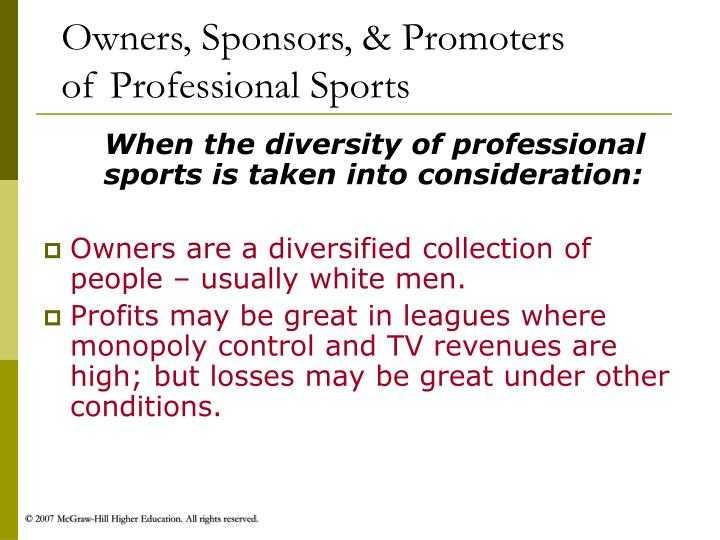 Owners, Sponsors, & Promoters
