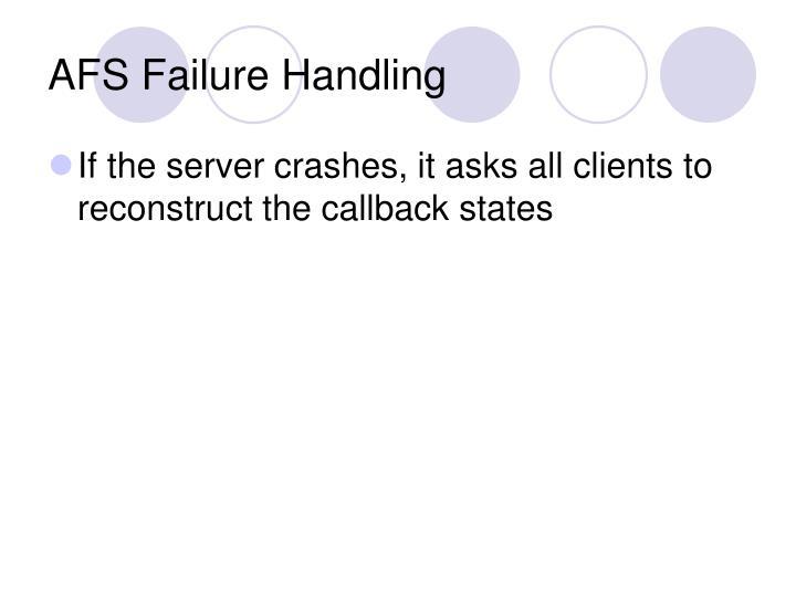 AFS Failure Handling