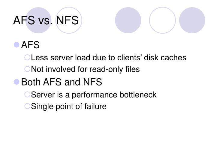 AFS vs. NFS