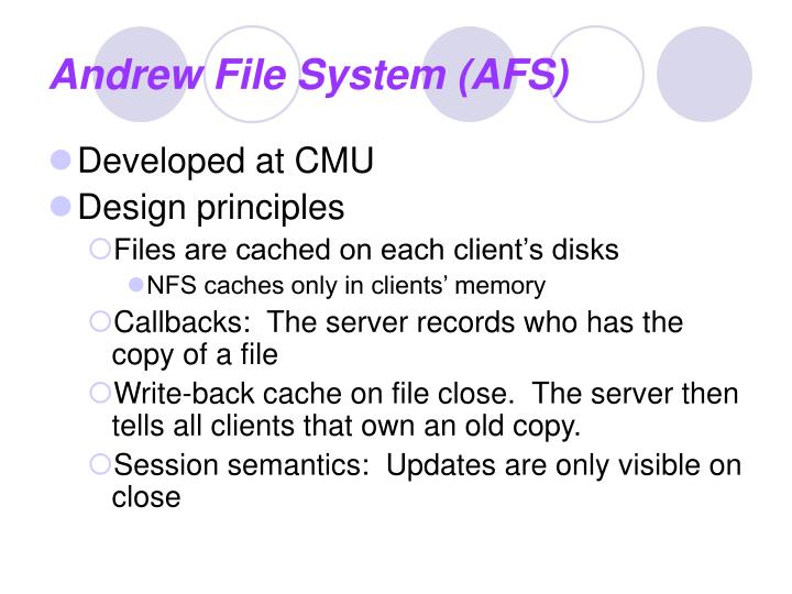 Andrew File System (AFS)