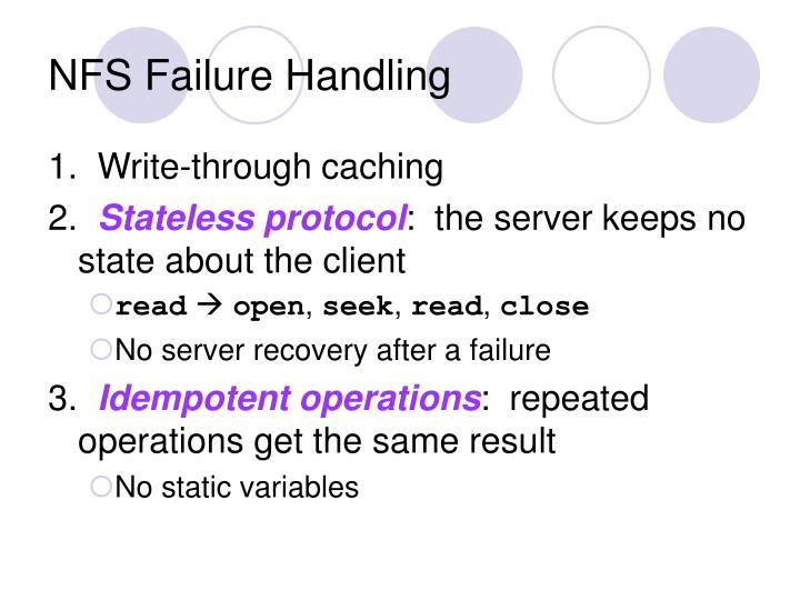 NFS Failure Handling