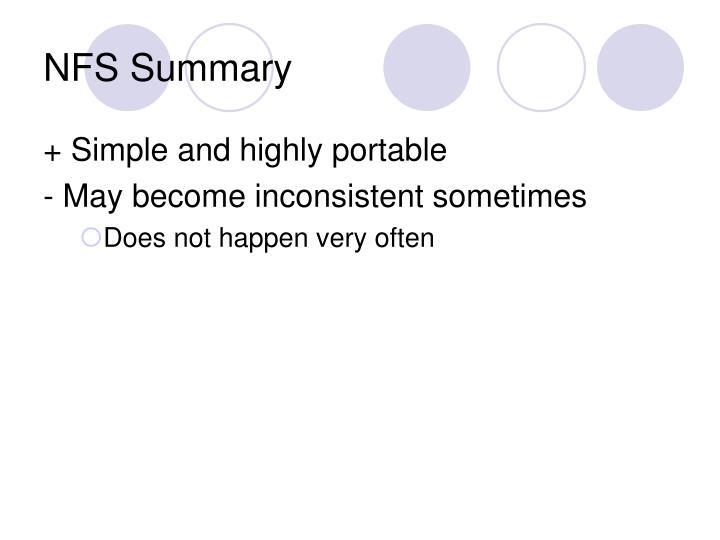NFS Summary