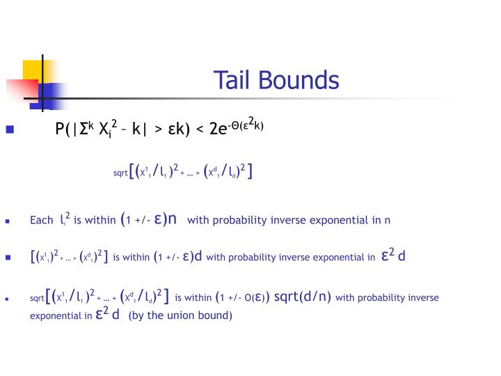 Tail Bounds