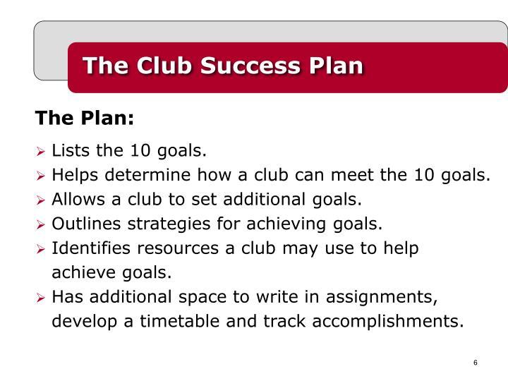 The Club Success Plan