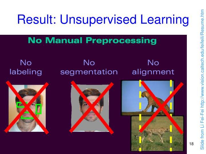 Result: Unsupervised Learning