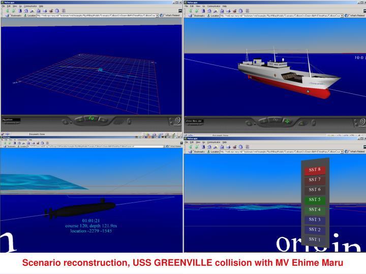 Scenario reconstruction, USS GREENVILLE collision with MV Ehime Maru