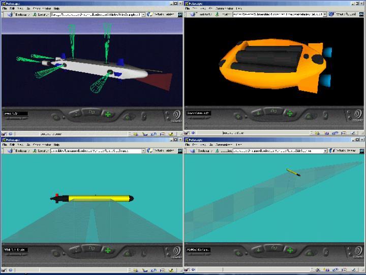 Numerous underwater vehicle models