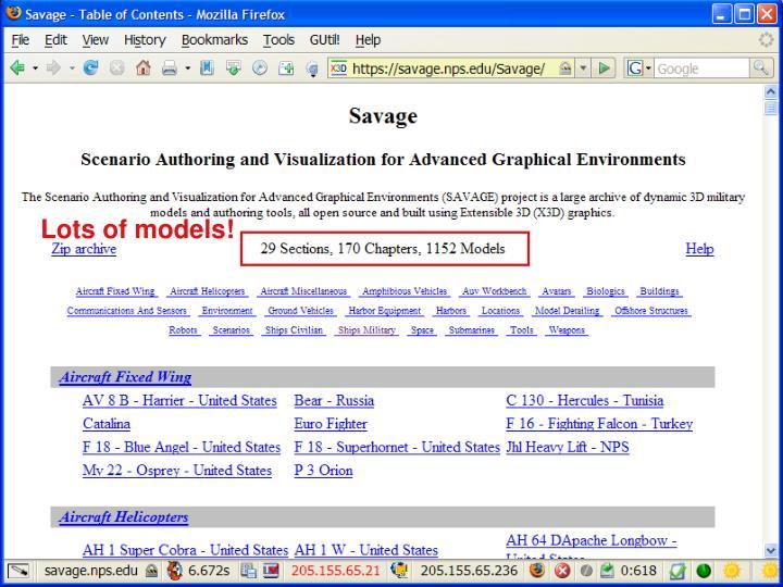 SAVAGE 3D Model Archive