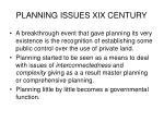 planning issues xix century1