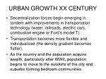 urban growth xx century