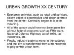urban growth xx century1