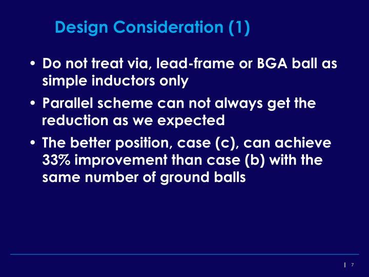 Design Consideration (1)