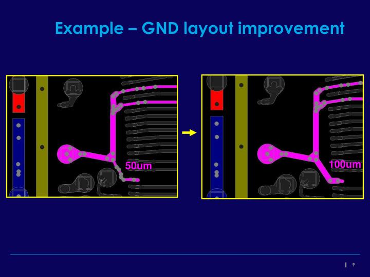 Example – GND layout improvement
