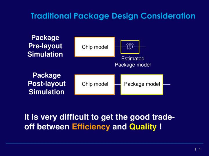 Traditional Package Design Consideration