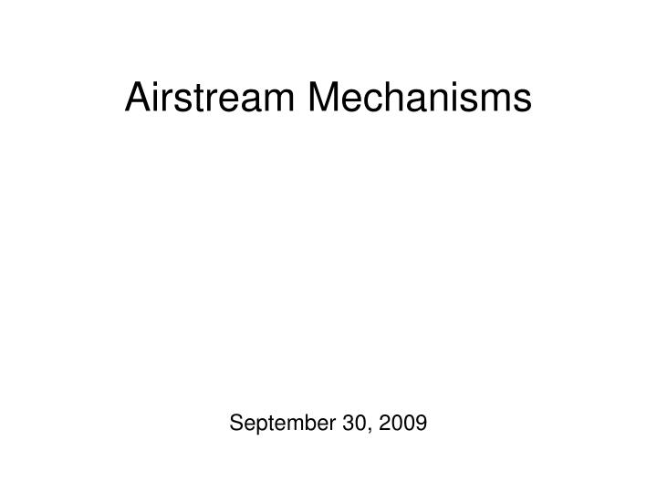 airstream mechanisms