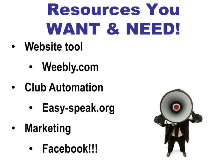 Resources You WANT & NEED!