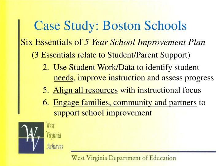Case Study: Boston Schools