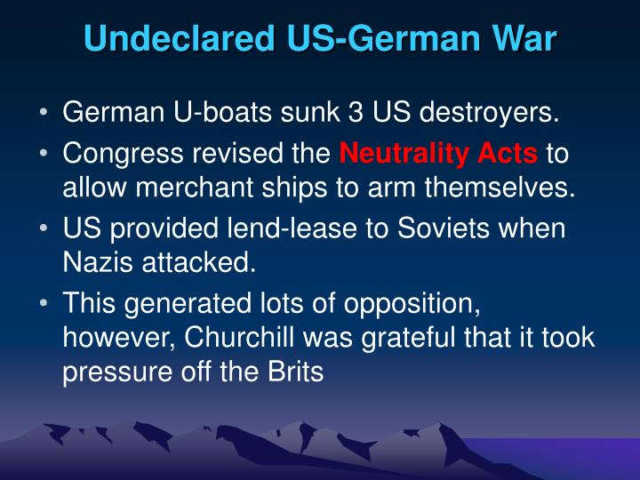 Undeclared US-German War