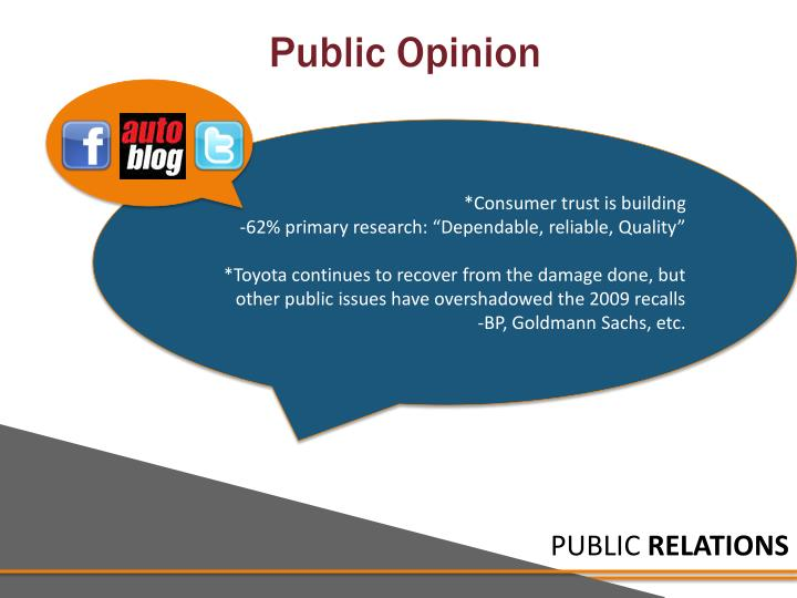 *Consumer trust is building