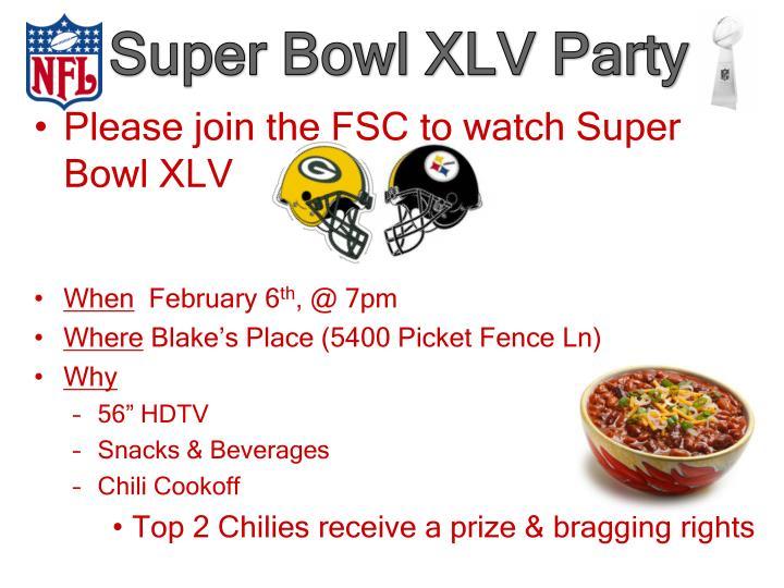 Super Bowl XLV Party