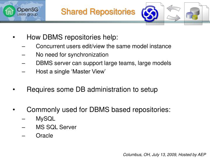 Shared Repositories