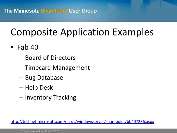 Composite Application Examples