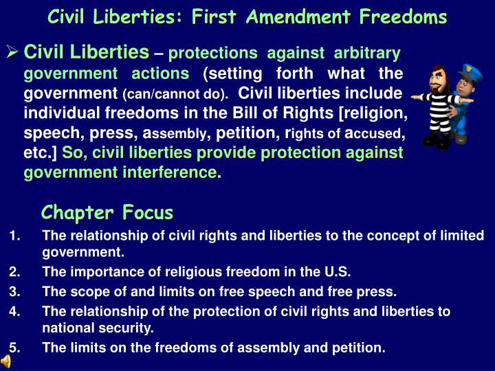Civil Liberties: First Amendment Freedoms
