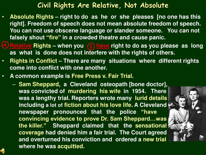 Civil Rights Are Relative, Not Absolute