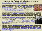 here is the pledge of allegiance story