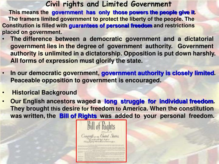 Civil rights and Limited Government