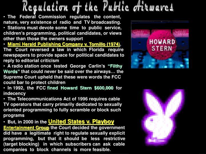 Regulation of the Public Airwaves