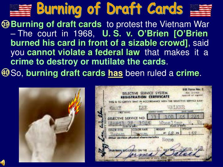 Burning of Draft Cards