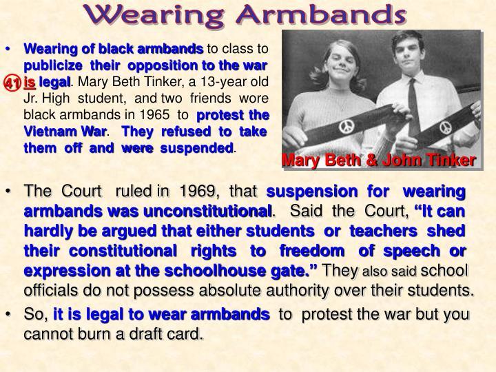 Wearing Armbands