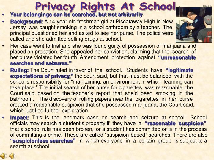 Privacy Rights At School