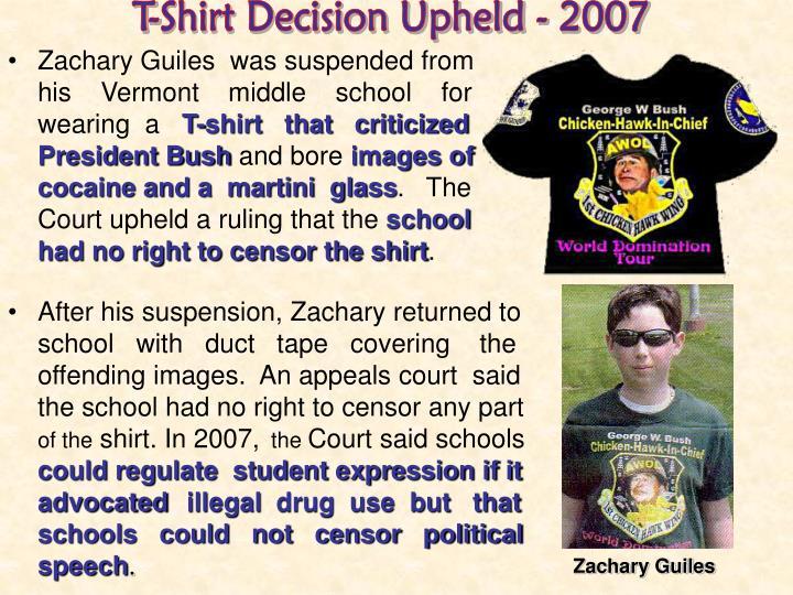 T-Shirt Decision Upheld - 2007