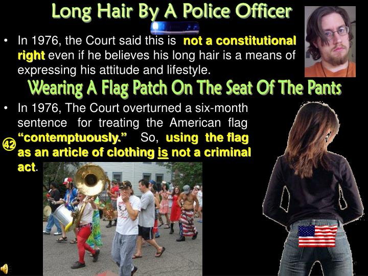 Long Hair By A Police Officer