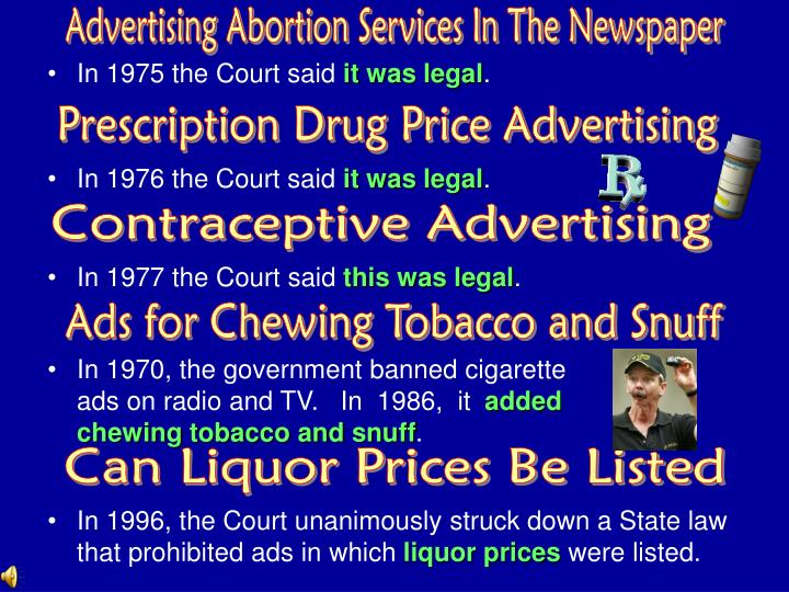Advertising Abortion Services In The Newspaper