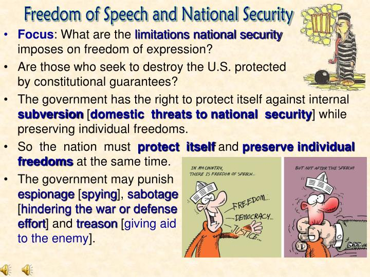 Freedom of Speech and National Security