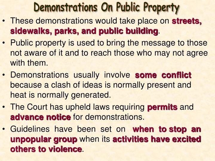 Demonstrations On Public Property