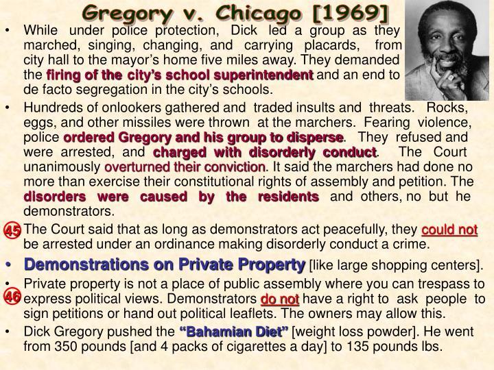 Gregory v. Chicago [1969]