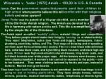 wisconsin v yoder 1972 amish 100 00 in u s canada